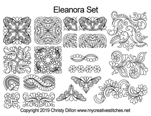 Eleanora free quilting designs set