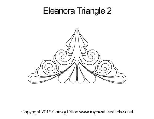 Eleanora digitized quilting design for triangle 2