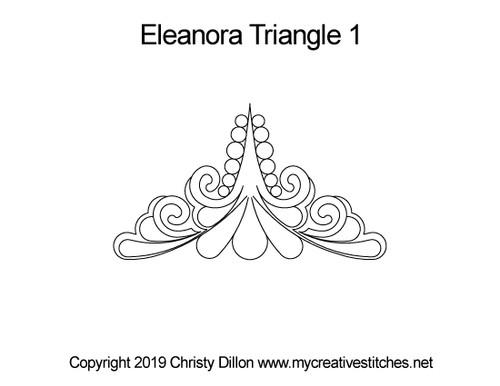 Eleanora digitized quilting design for triangle 1