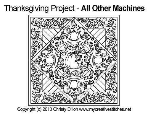 Thanksgiving placemat machine quilting project