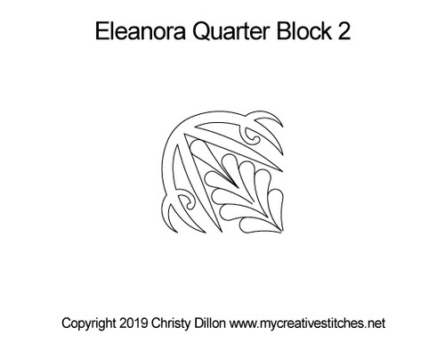 Eleanora digitized quarter block 2 quilting
