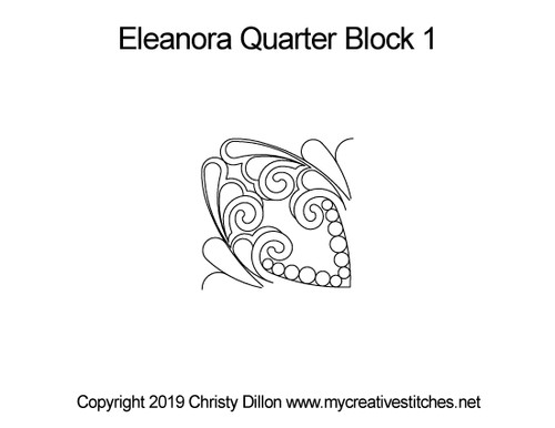 Eleanora quarter block 1 quilting designs