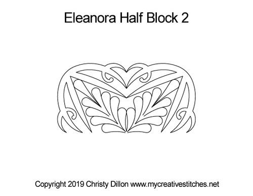 Eleanora half block 2 quilting design