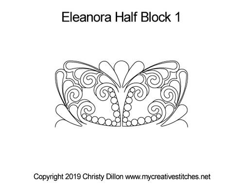 Eleanora half block 1 quilting design