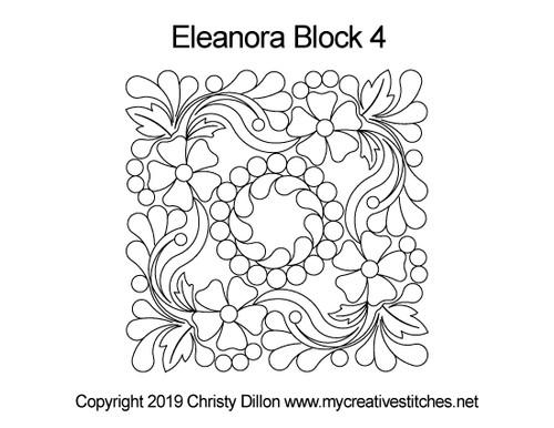 Eleanora quilting designs for blocks 4