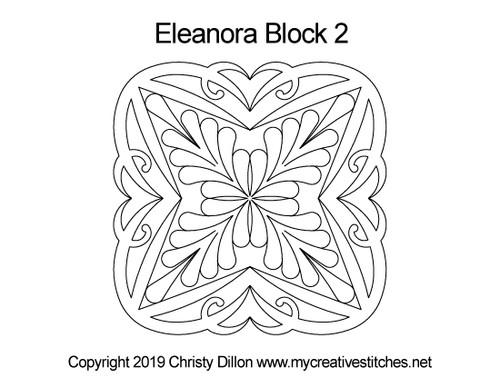 Eleanora digitized block 2 quilting design