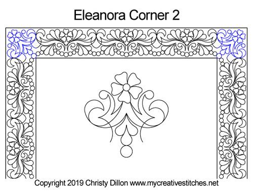 Eleanora corner 2 quilt patterns