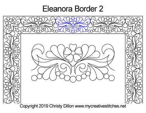 Eleanora border 2 quilting design
