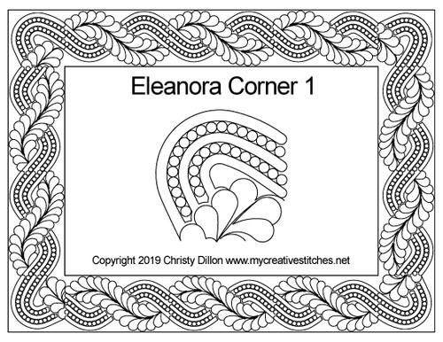 Eleanora digitized corner quilt pattern