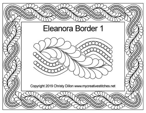 Eleanora digitized border 1 quilting design