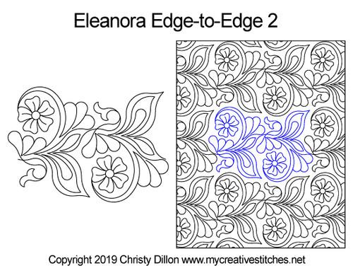 Eleanora edge to edge 2 digital quilting pattern