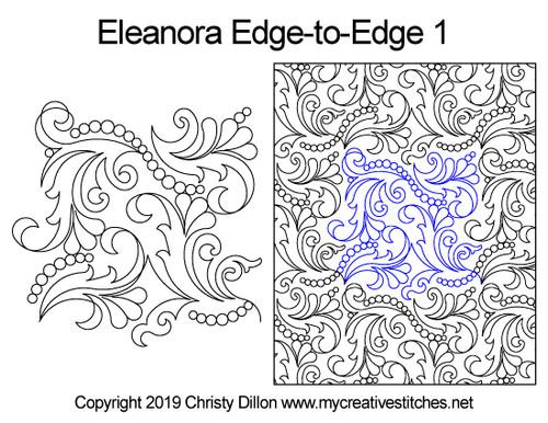 Eleanora edge to edge 1 digital quilting pattern