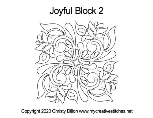 Joyful Square block quilt pattern