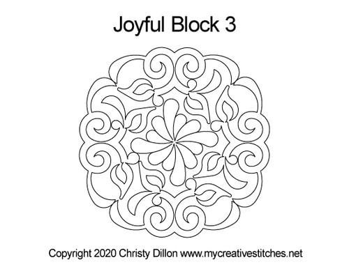 Joyful Round block quilt design