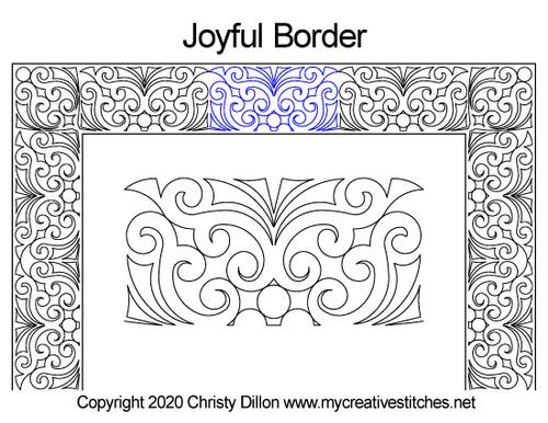 Joyful border quilting pattern