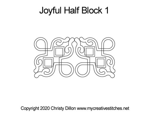 Joyful Half block quilting pattern