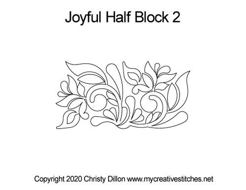 Joyful Half quilt design for blocks