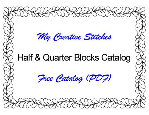 Free Catalog (PDF) for Half and Quarter Block Patterns