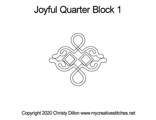 Joyful quarter block quilting designs