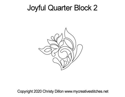 Joyful quarter block quilting design