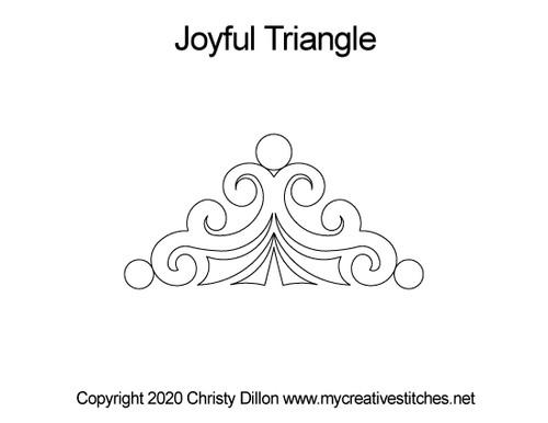 Joyful digital quilting designs for triangle