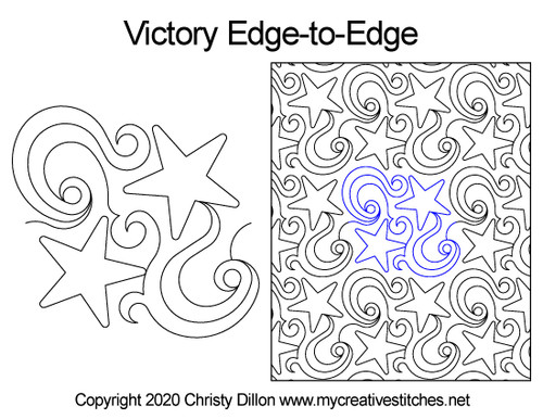 Victory edge to edge digital quilt patterns