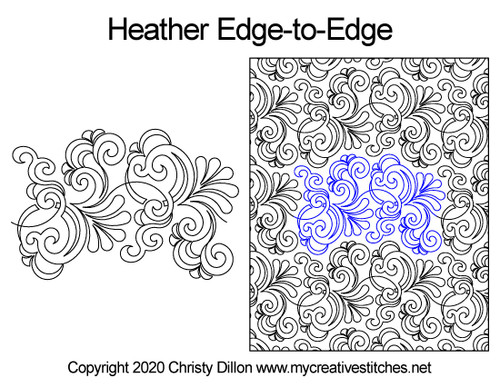 Heather edge-to-edge quilt pattern