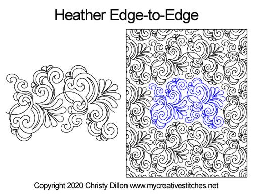Heather edge-to-edge quilt pattern