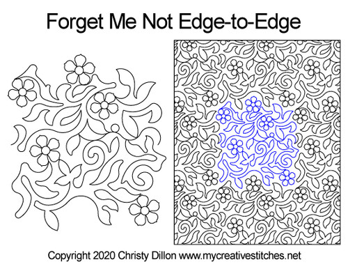 Forget me not edge to edge designs