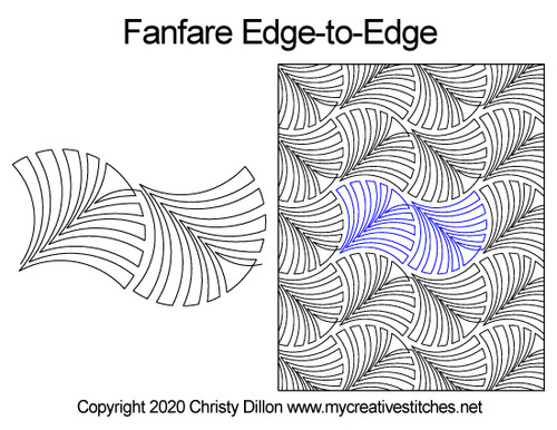 Fanfare edge to edge quilt patterns