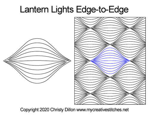 Lantern lights edge-to-edge quilt design