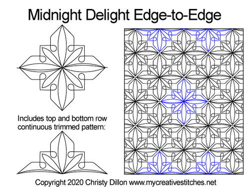 Midnight delight edge to edge quilt patterns