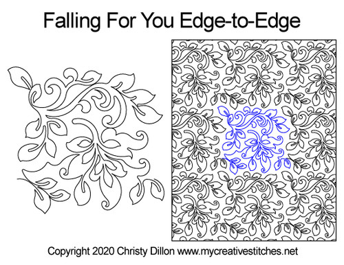 Falling for you edge to edge digital quilting