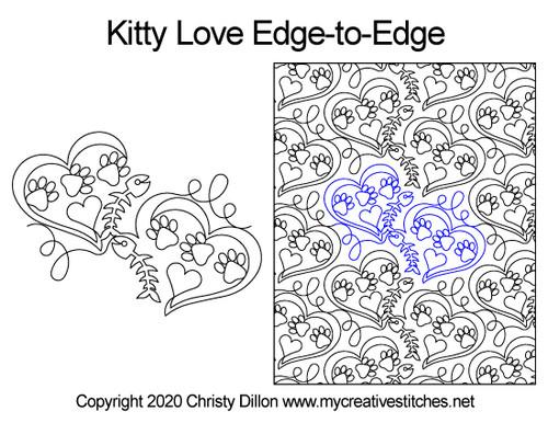 Kitty Love Edge-to-Edge