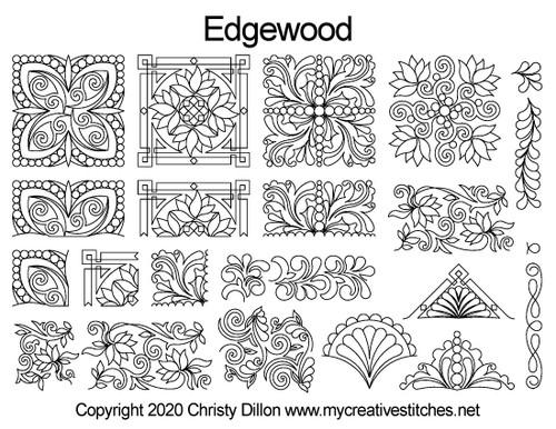 Edgewood longarm free set