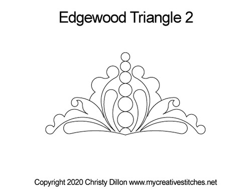 Edgewood triangle 2 digitized quilt design