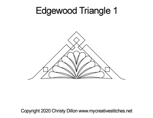 Edgewood digital quilting pattern for triangle
