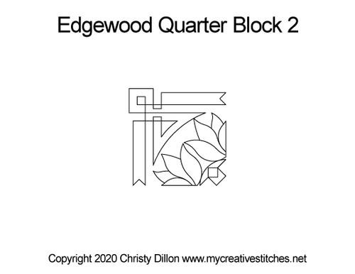 Edgewood digitized quarter block 2 pattern