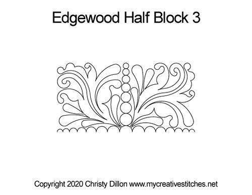 Edgewood half block 3 quilting pattern