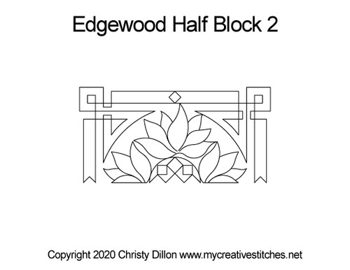Edgewood Half Block 2 quilt pattern