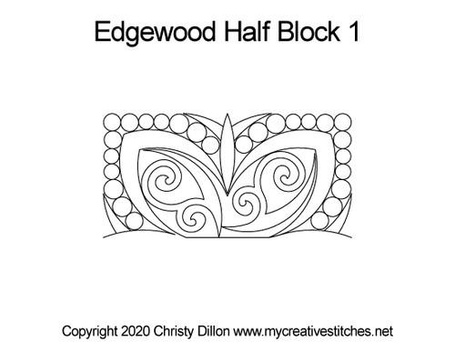 Edgewood half block quilting designs
