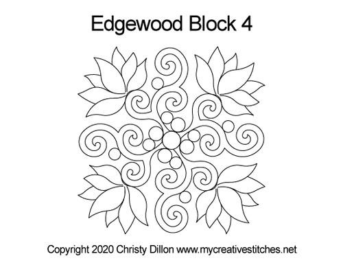 Edgewood Flower Block 4 quilt pattern