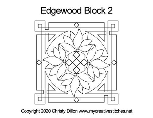 Edgewood Square Block 2 quilt design