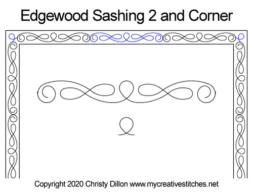 Edgewood 2 sashing & corner quilting
