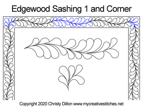 Edgewood sashing & corner quilt pattern