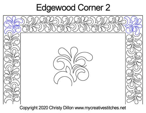 Edgewood corner 2 quilt design