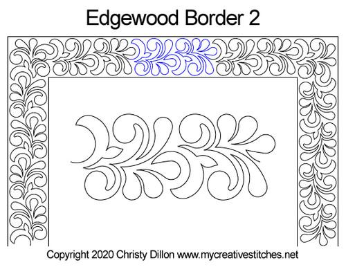 Edgewood border 2 quilting patterns