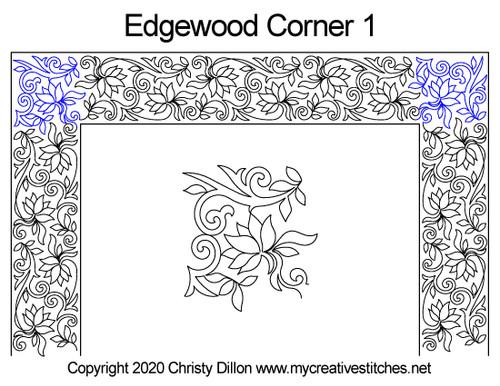 Edgewood corner 1 quilt pattern