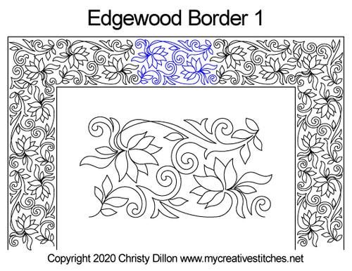 Edgewood border 1 quilting design