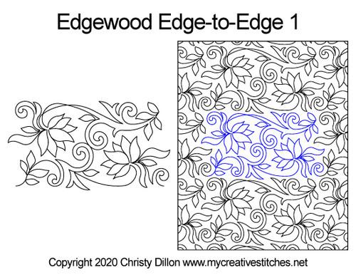 Edgewood edge to edge 1 quilt designs